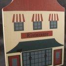 THE CAT'S MEOW VILLAGE 1985 SERIES III RISTORANTE BUILDING