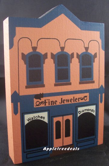 THE CAT'S MEOW VILLAGE 1985 SERIES III FINE JEWELERS STORE
