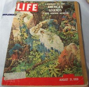 Life Magazine Aug 31 1959 America legends Montana Earthquake