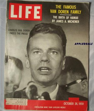 Life Magazine Oct 26 1959Van Doran family Michner Hawaii