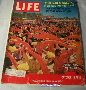 Life Magazine Oct 19 1959 Mao Peking Stengal Kruschev Daewin Missles