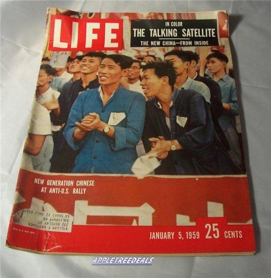 Life Magazine Jan 5 1959 Red China Satelite Anti US Monkey Space