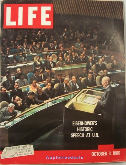 Life Magazine Oct 3 1960 Eisenhower UN Election Orioles Baseball