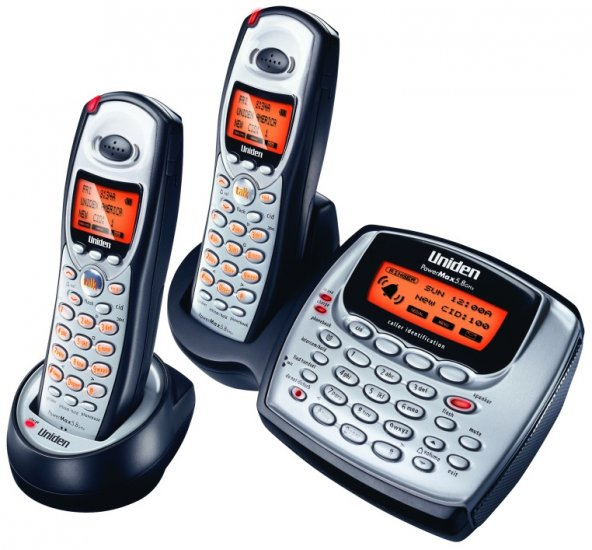 Uniden TRU8865-2 - 5.8 GHz Digital Expandable CID Cordless Phone - with Extra Handset