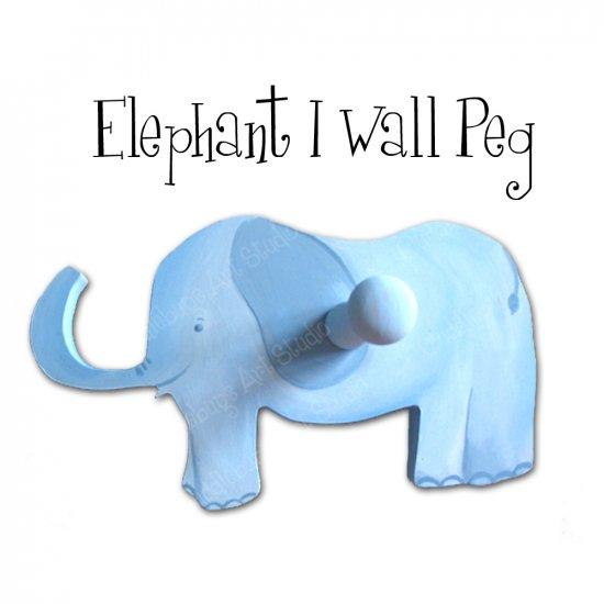 Elephant Wall Peg / Hook