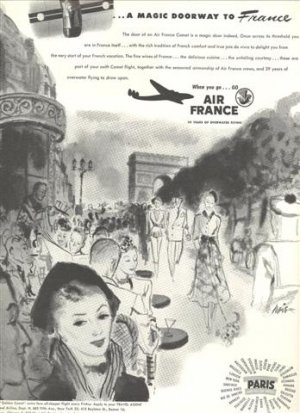 1948-Air France Magazine Ad - Doorway to France 10.5 x 13""