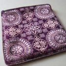 Purple and Gold Brocade Sari Change Purse