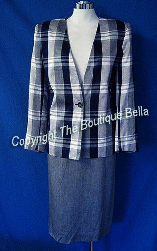 WORTHINGTON  SKIRT SUIT Size 6 8 Soft gray career
