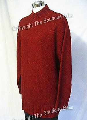 SIZE 16-18 - JONES NEW YORK Burgundy crew neckline sweater