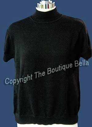 SIZE L-M-10  EDDIE BAUER Classic Black top short sleeve shell