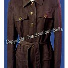 SIZE 6 - BELTED Chocolate Brown Career Jacket Blazer