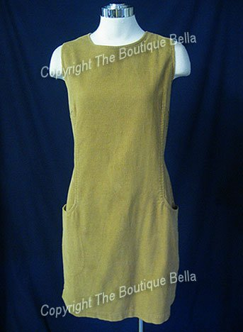 SIZE 8 -10 - EDDIE BAUER Ginger Glazed Corduroy shift casual dress