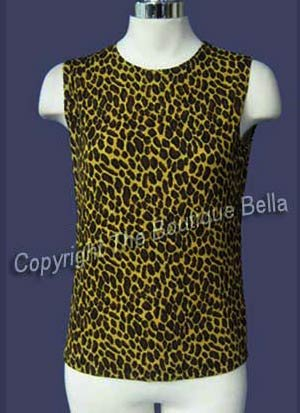 SIZE 4 - SM - NEW Sexy Leopard stretchy Top
