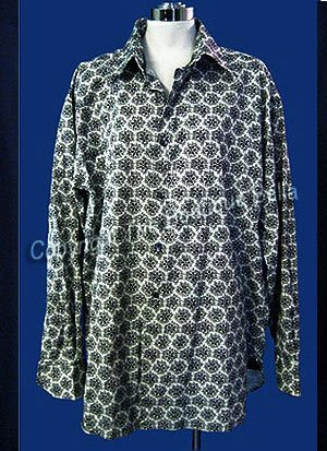 SIZE 16 - XLG TOMMY HILFIGER Casual Black White Shirt