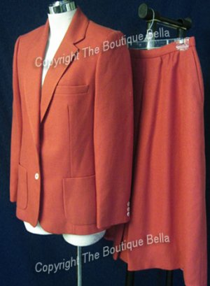 SIZE 6 - JH COLLECTIBLES Pumpkin spiced career jacket skirt suit