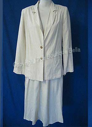 SIZE 4 - Small Womens Nature Elle Light Spring Career Ivory Suit