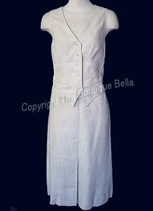 SIZE 6 - SMALL Vintage Jones New York Off White Career Skirt Suit