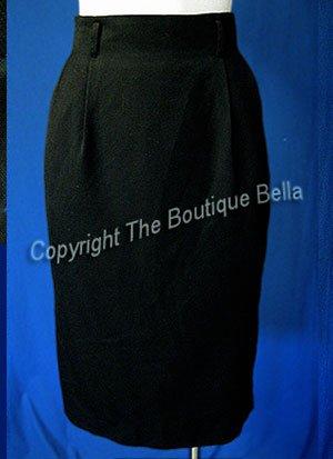 SIZE 6 - 8 Classic skinny pencil black career skirt