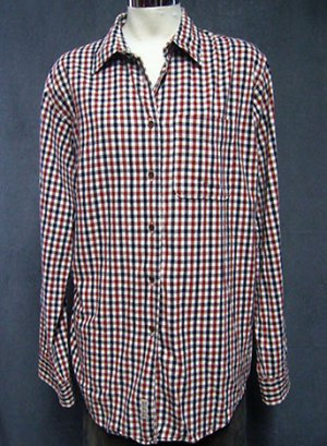 Size: Medium ABERCROMBIE red/blue/white plaid shirt