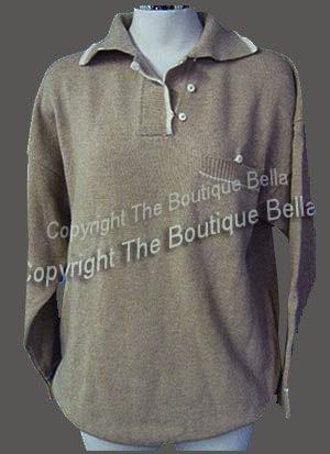 Size L: FALL NEW w/tags preppy Beige ivory sweater L