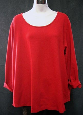 Size 22 AVENUE Raspberry Red Comfy Casual top