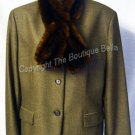 Size 14 - pet IMPECABLE Ralph Lauren Jacket w/detach fur collar
