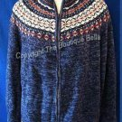 Size Large/XL: Winter cozy blue sweater