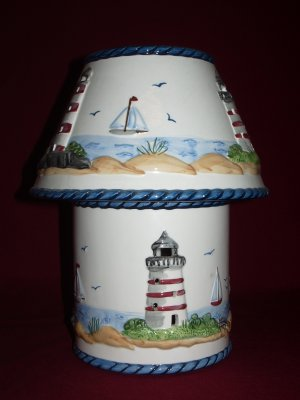Large Ceramic Candle Holder and Shade