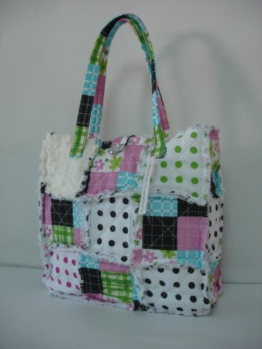 Patchwork Purse, Patchwork Tote, Rag Purse, All Cotton