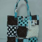 Patchwork Rag Bag, Patchwork Tote, Cotton Patchwork Bag