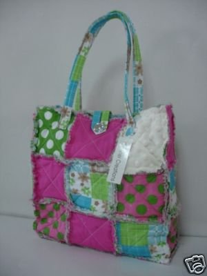 Patchwork Tote or Purse, Rag Bag, All Cotton