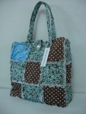 Patchwork Quilt Purse, Rag Bag Quilted Purse, Cotton