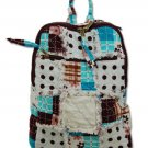 Patchwork Quilted Backpack, Patchwork purses, cotton