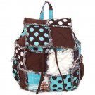 Rag Backpack Purse, Rag Bag, Polk Dot Backpack Cotton
