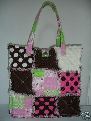 Quilt Tote Purse, Patchwork Bag, Cotton Handbag, RagBag