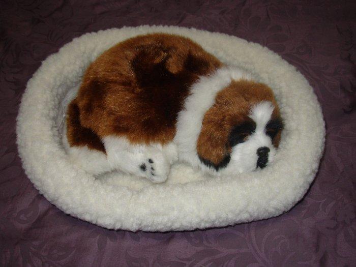 Pet Nap St. Bernard Realistic Breathable Sleeping Dog Suffed Animals