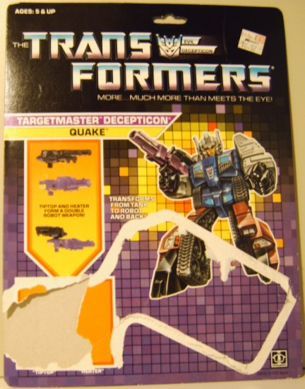 Transformers Targetmaster Quake full card