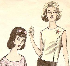 Vintage Womens Top Pattern - 1960s - 5542