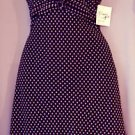 Chiffon Dress - Black w/Pink Dots - Sz 12