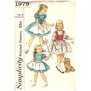 Vintage Sewing Pattern - Children/ Girls 1950s - Simplicity Size 6