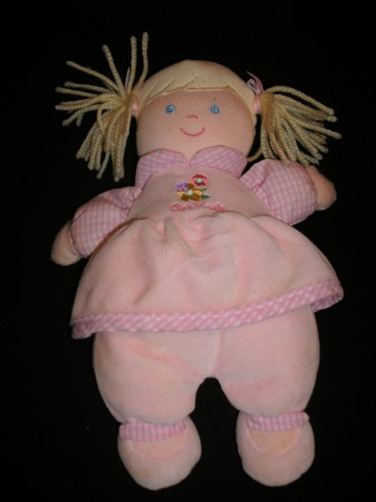 OSH KOSH Plush Blonde Doll With Rattle Lovey