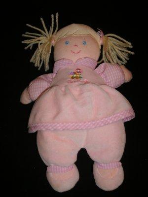 OSH KOSH Plush Blonde Doll With Rattle Lovey