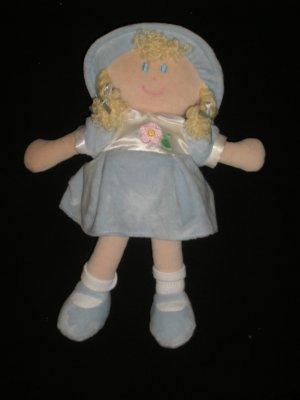 KIDS PREFERRED Plush Baby DOLL Megan Blue Dress