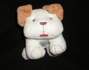 Old Navy White Plush Puppy Dog Rattle stuffed animal