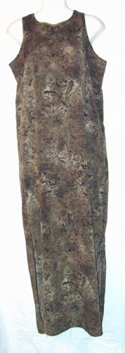 Carole Katz California Sleeveless Long Sage Dress Sz Md