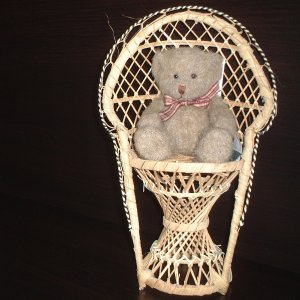 Wicker chair for your Teddy Bear