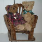 Chair for Teddy Bear - Hand Made Wood Stick