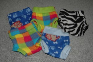 Fleece Diaper Covers - Medium