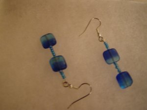 Mediteranian Sea Dangle Earrings