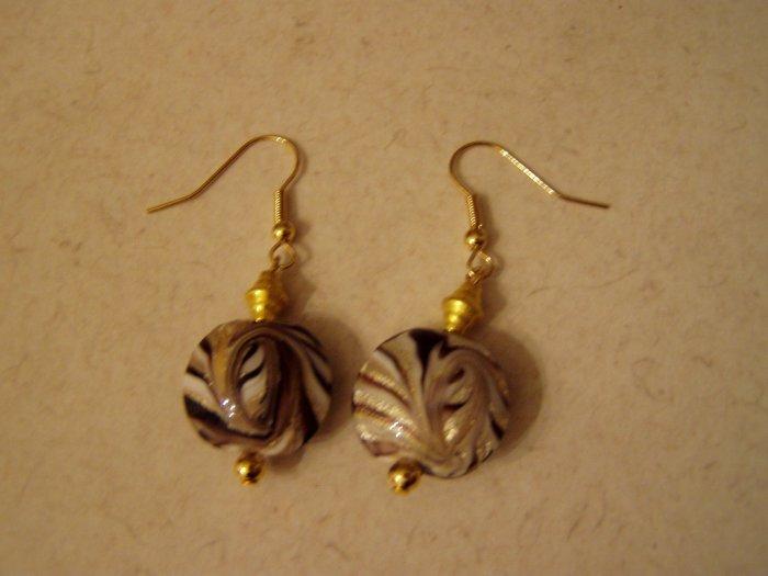 Golden Swirl Dangle Earrings